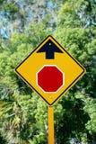 Stoppa tecknet framåt Fotografering för Bildbyråer