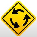 Stoppa tecknet med två tomma riktningspilar Arkivfoton