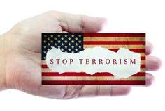 Stoppa terrorism Royaltyfri Foto