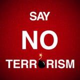 Stoppa terrorismbakgrund Arkivfoto