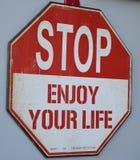 Stoppa tycker om ditt liv Arkivbild