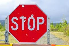 Stoppa undertecknar Royaltyfri Fotografi
