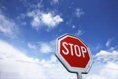 Stoppa undertecknar Arkivbilder