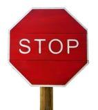 Stoppa undertecknar isolerat Fotografering för Bildbyråer