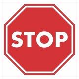 Stoppa undertecknar på vägen Fotografering för Bildbyråer