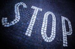 Stoppa vägen Fotografering för Bildbyråer