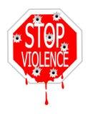 stoppa våld Arkivfoto