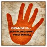 Stoppa våld mot kvinnaaffischen vektor illustrationer