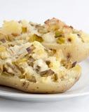 Stoppad bakad potatis Fotografering för Bildbyråer