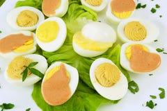 stoppade kokt ägg royaltyfria bilder