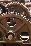 Stopped!. A rusted gearwheel once controlled the shutters in a dam Stock Photography