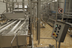 Stopped conveyor at production factory Stock Photography