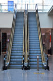 Stopped escalators in the airport Stock Photos