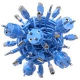 Stoppen in geknoopte kabel Royalty-vrije Stock Afbeelding
