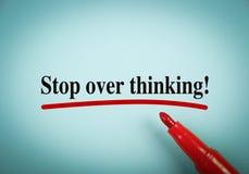 Stoppen Sie über dem Denken Lizenzfreie Stockfotos