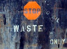 Stoppen Sie Abfall Stockfotos
