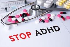 STOPPEN SIE ADHD Lizenzfreie Stockfotos
