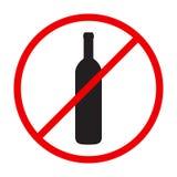 Stoppen Sie Alkohol, den rote Runde singen Stockfoto