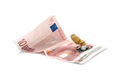 Stoppen Sie, außer Geld zu rauchen Stockfotos