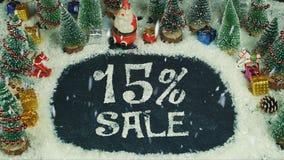 Stoppen Sie Bewegungsanimation von Verkauf 15% Stockbild