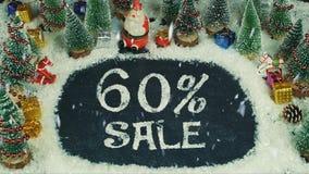 Stoppen Sie Bewegungsanimation von 60% Verkauf Stockfotografie