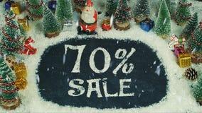 Stoppen Sie Bewegungsanimation von 70% Verkauf Lizenzfreie Stockbilder