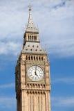 Stoppen Sie Big Ben (Elizabeth-Kontrollturm) bei oâclock 5 ab lizenzfreies stockbild
