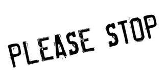 Stoppen Sie bitte Stempel Stockbilder