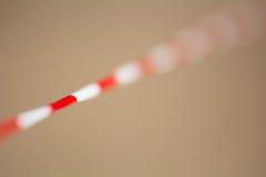 Stoppen Sie das Band mit den roten und weißen Streifen Lizenzfreie Stockbilder