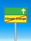 Stoppen Sie das Klimawandel-Schild stockfotos