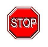 Stoppen Sie das Zeichen, getrennt Stockbilder