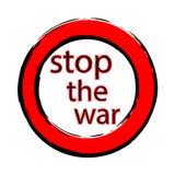 Stoppen Sie den Krieg Stockbild