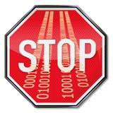 Stoppen Sie den Missbrauch von Daten vektor abbildung