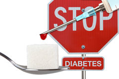 Stoppen Sie Diabetes Stockbild