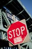 Stoppen Sie die globale Erwärmung Stockbild