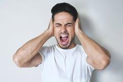 Stoppen Sie diese lauten Geräusche! Stockfotos