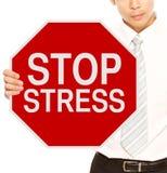Stoppen Sie Druck Lizenzfreie Stockbilder