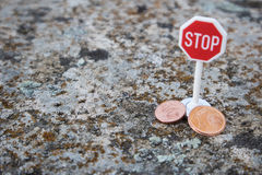 Stoppen Sie Eurocents Stockbild