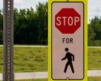 Stoppen Sie für Fußgänger Lizenzfreies Stockfoto