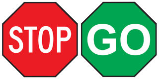 Stoppen Sie gehen Zeichen lizenzfreie abbildung