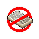 Stoppen Sie gelesen Es ist zur Bildung verboten Rotes Verbotszeichen C lizenzfreie abbildung