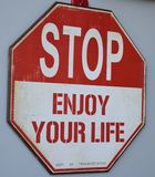 Stoppen Sie genießen Ihr Leben Stockfotografie