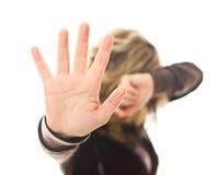 Stoppen Sie Gewalttätigkeit Stockfoto