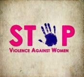 Stoppen Sie Gewalttätigkeit gegen die Retro- Frauen Stockbilder