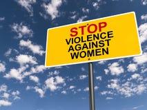 Stoppen Sie Gewalttätigkeit gegen Frauen Lizenzfreie Stockbilder