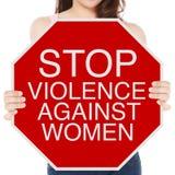 Stoppen Sie Gewalttätigkeit gegen Frauen Stockfotografie