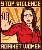 Stoppen Sie Gewalttätigkeit gegen Frauenplakat Lizenzfreie Stockbilder