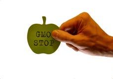 Stoppen Sie GMO Lizenzfreie Stockbilder