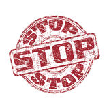Stoppen Sie grunge Stempel Lizenzfreies Stockbild
