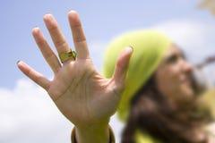 Stoppen Sie Hand Stockfoto